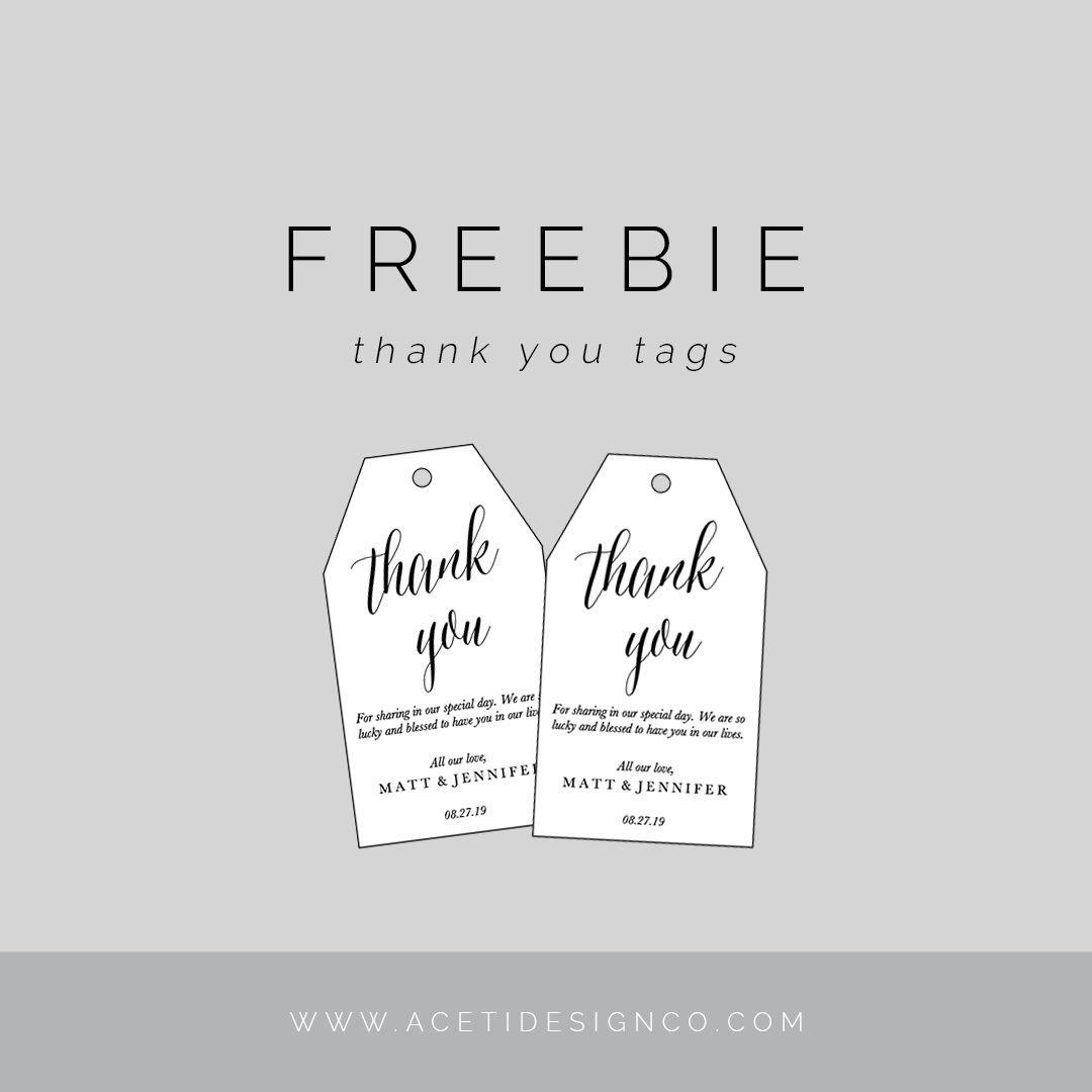 4795aaea474 FREEBIE: Editable Thank You Tags | Gift tags | Free printable gift ...