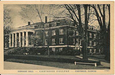 Denhart Hall Carthage College Carthage Illinois Il Postcard Ebay Carthage Carthage College Carthage Illinois