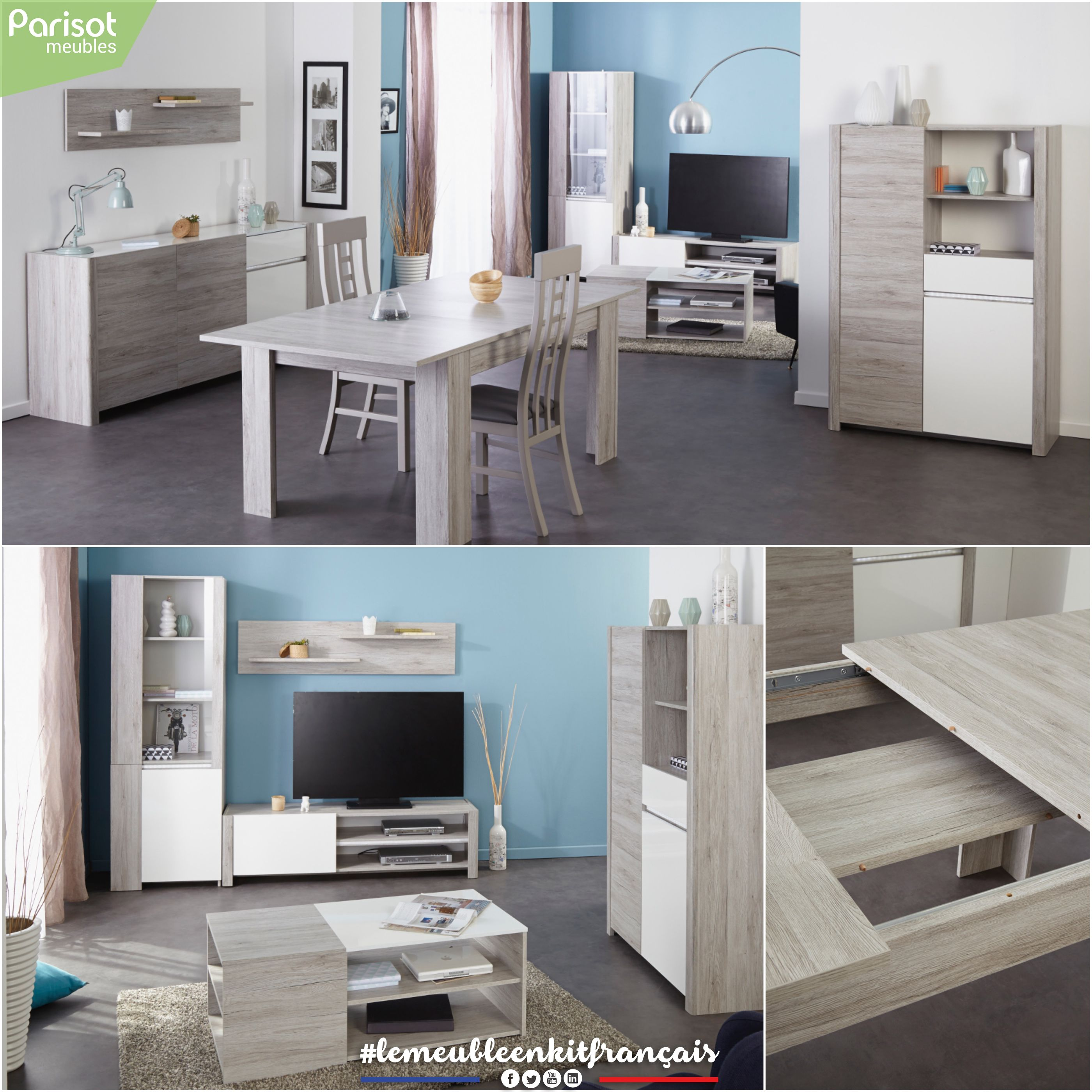 Luneo By Parisot Meubles A Living Room Of Quality With Decorative Molding And Lighting Ensures Contemporary Design At A Low Contemporary Design Decor Design
