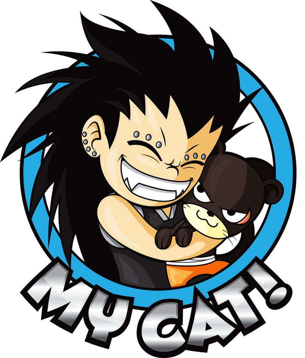 Fairy Tail Gajeel Cat MY CAT! gajeel and lil...