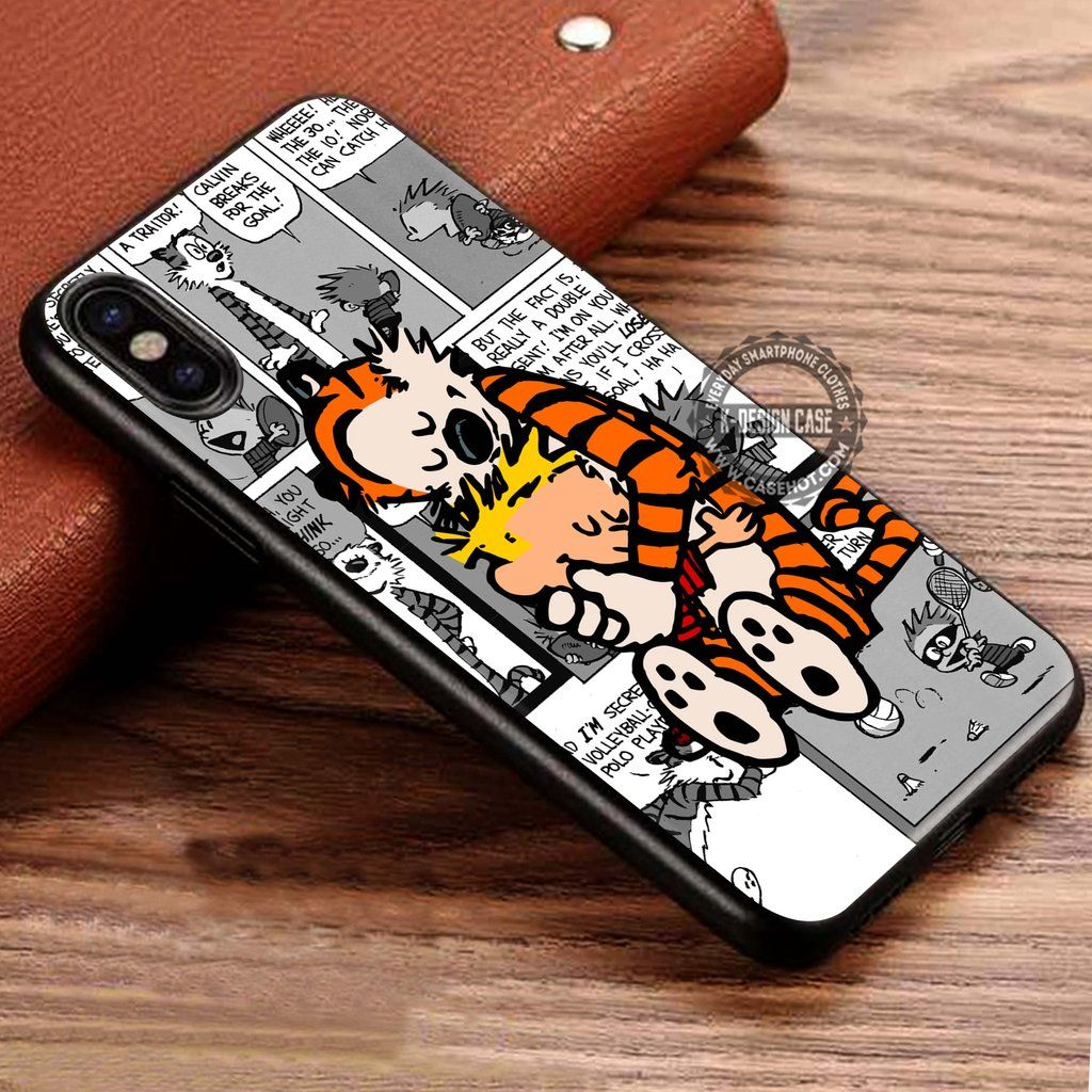 Calvin and Hobbes Hugs iphone case