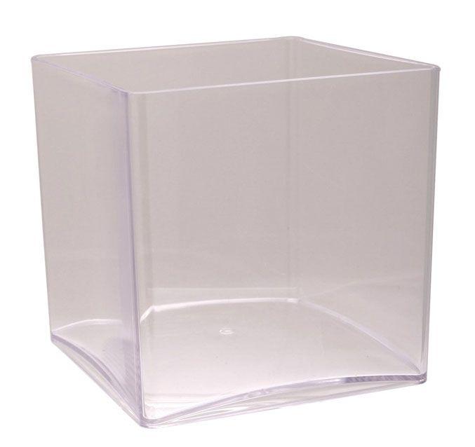Acrylic Cube Vase 15cm Cube Acrylics And Ranges