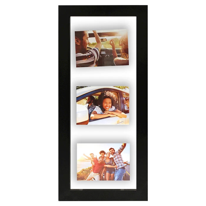 Float Frame Black 10x26 Glass For 3 5x7 Photos Room Essentials With Images Photo Room Floating Frame Multi Picture Frames
