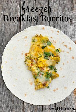Make Ahead: Freezer Breakfast Burritos