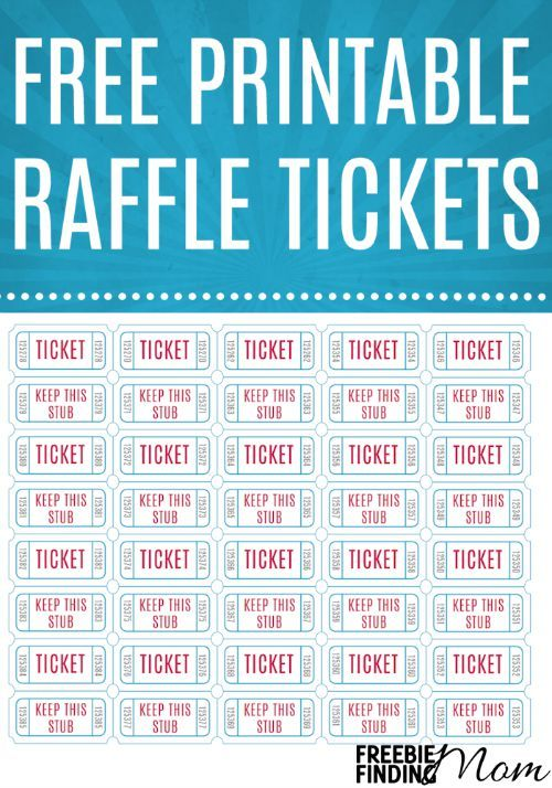 Free Printable Raffle Tickets Freebies Ticket template