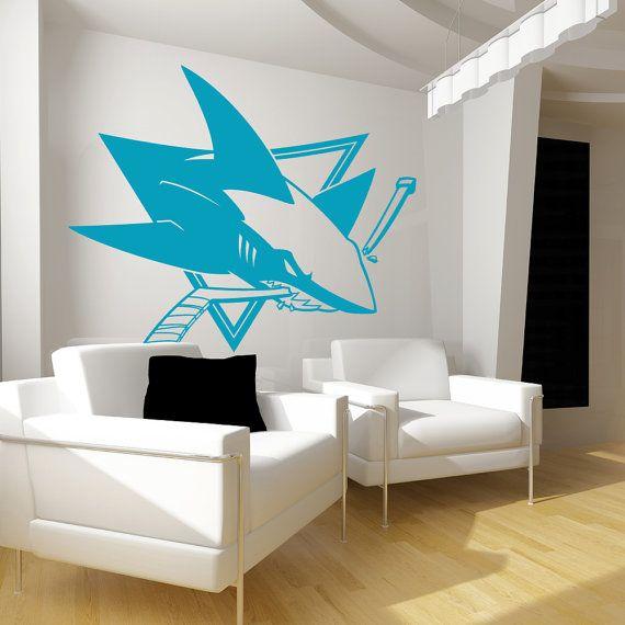 San Jose Sharks Decal- Home Decor, Wall Decor, San Jose