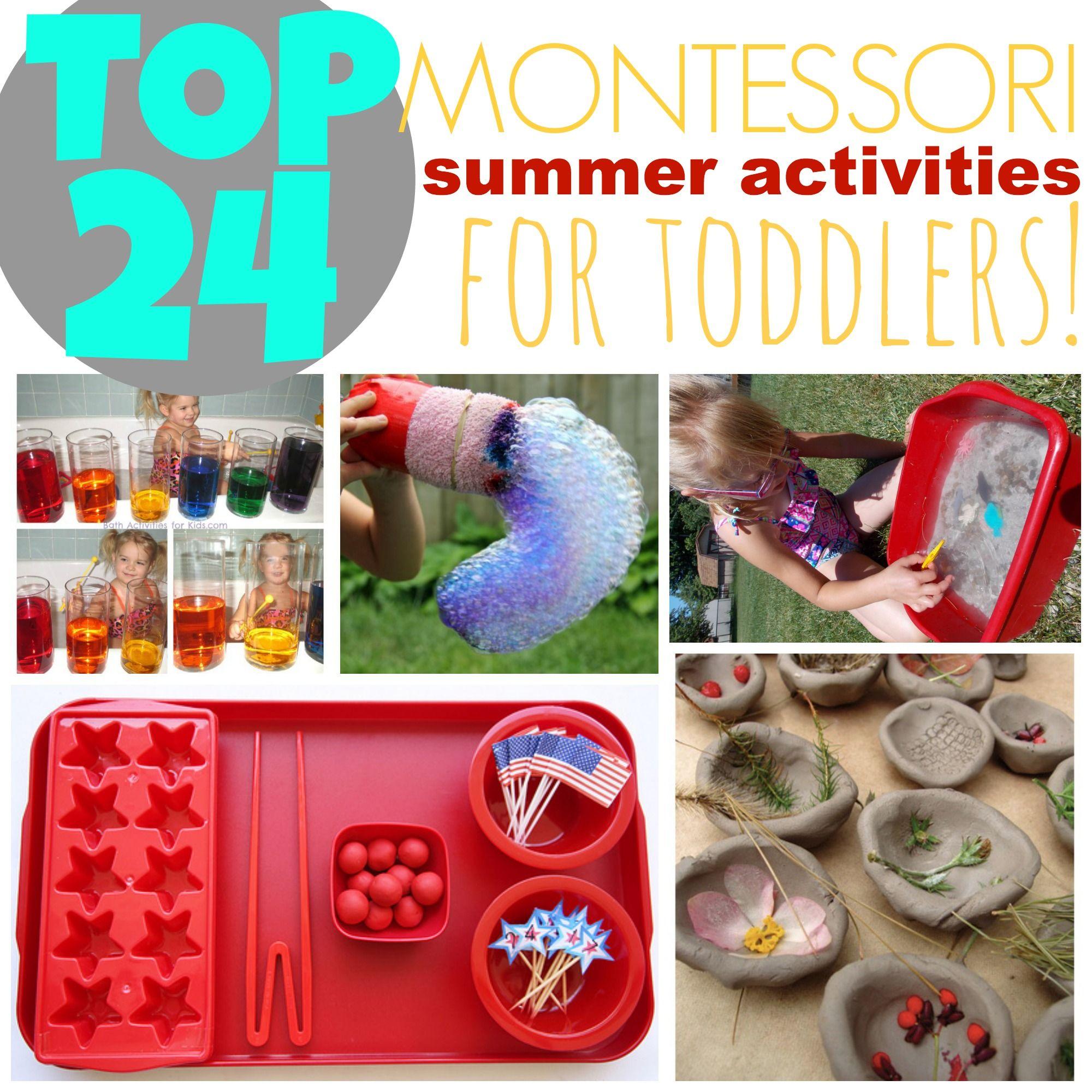 Amazing Summer: 24 Amazing Montessori Inspired Summer Activities For
