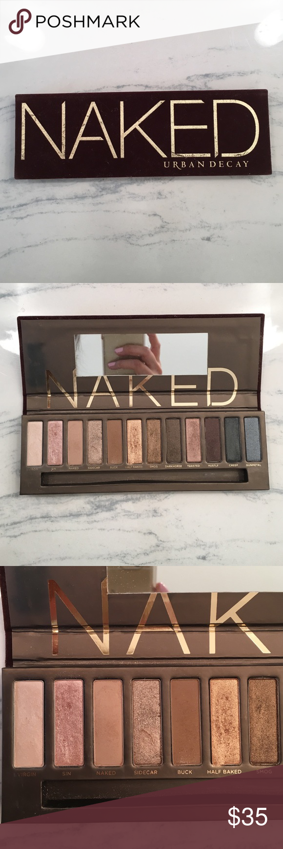 Urban Decay NAKED palette Authentic Urban Decay Naked palette. Barely used, some colors haven't been used at all. Shadows are in excellent condition. No brush or box. Purchased at Sephora. Urban Decay Makeup Eyeshadow