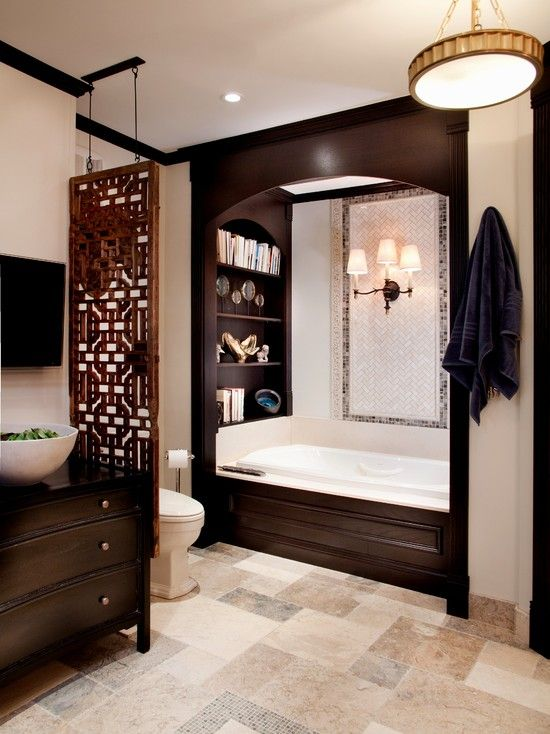 Bathroom Decorating With Bookcases Design, Pictures, Remodel, Decor and Ideas - page 2