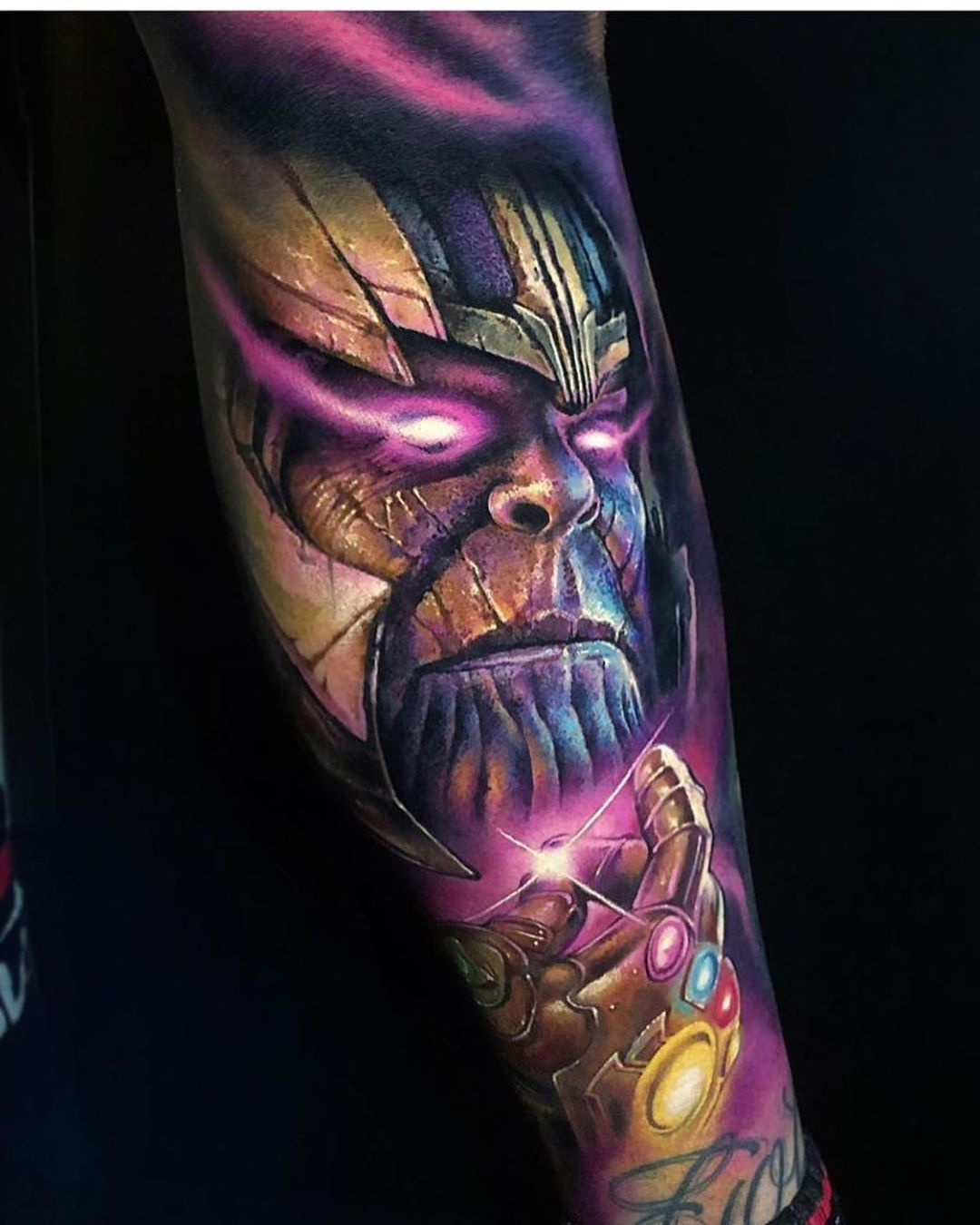 Check Out This Thanos Tattoo By Khailtattooer Inked Inkedmag