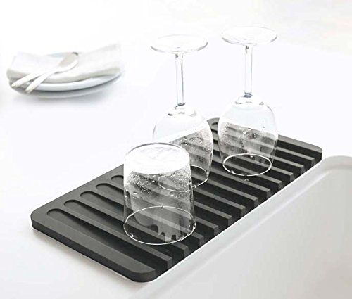 Fugami Self Draining Silicone Drying Mat You Can Get More Details By Clicking On The Image Soap Tray Tray Dish Drying Mat