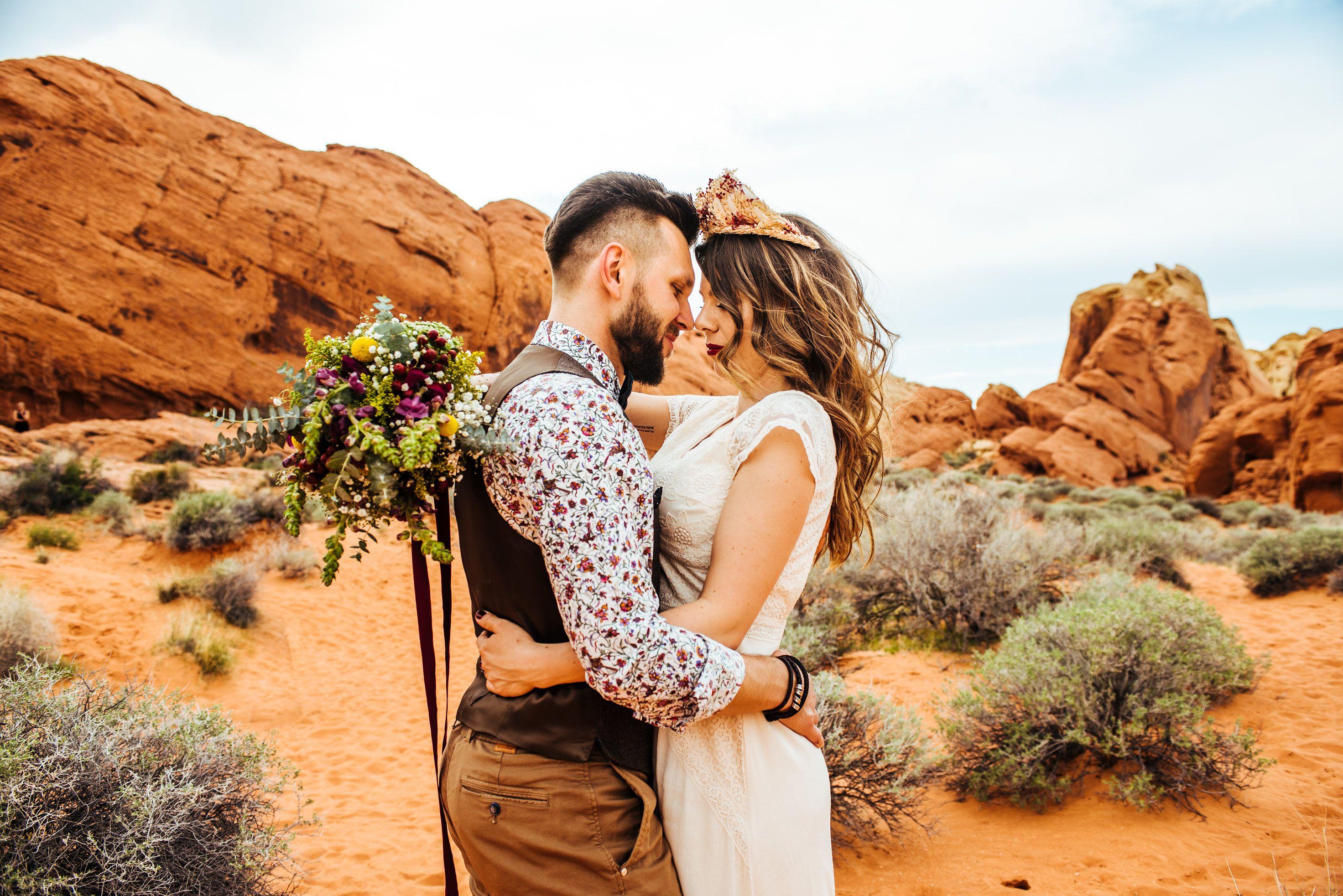 Las Vegas Desert wedding and elopement photo Ashley