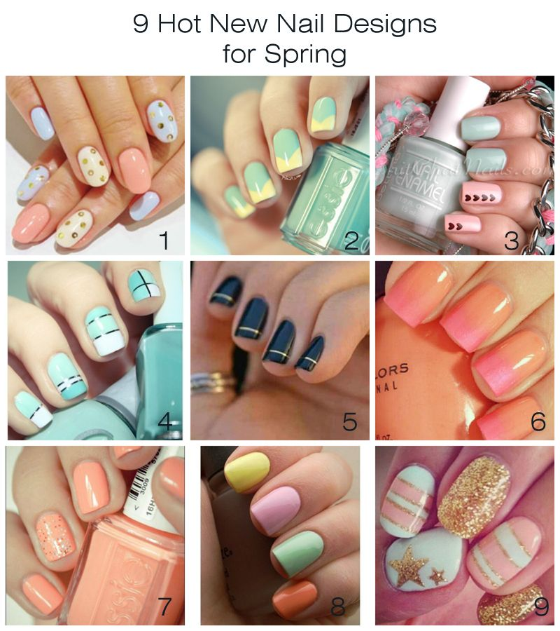 9 Hot New Nail Designs for Spring | Artzy Creations | Beauty - NEW ...