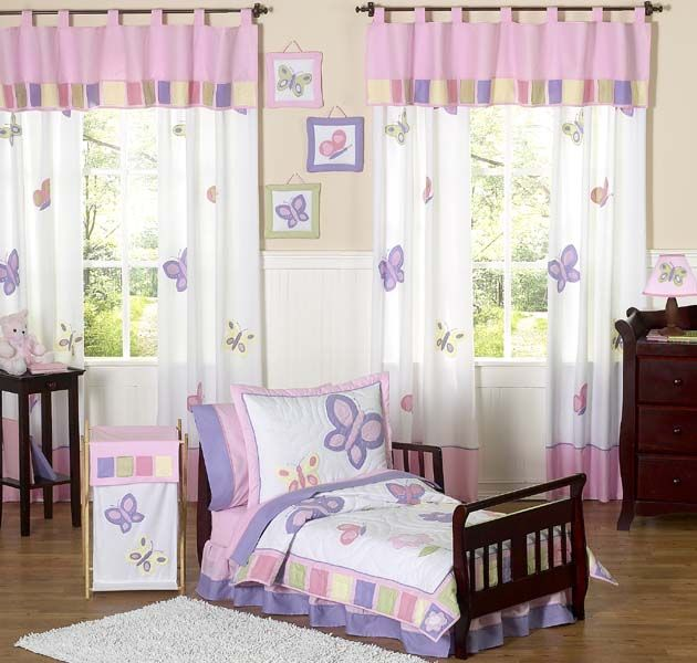 Butterfly Pink And Purple Toddler Bedding Set Toddler Room Decor
