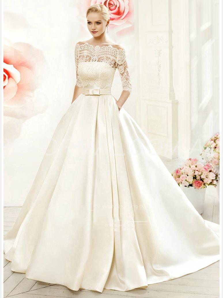 Beformal.com.au SUPPLIES Lace-up All Sizes Off-the-Shoulder Court Church Natural Button Floor-Length Wedding Dress Vintage Wedding Dresses
