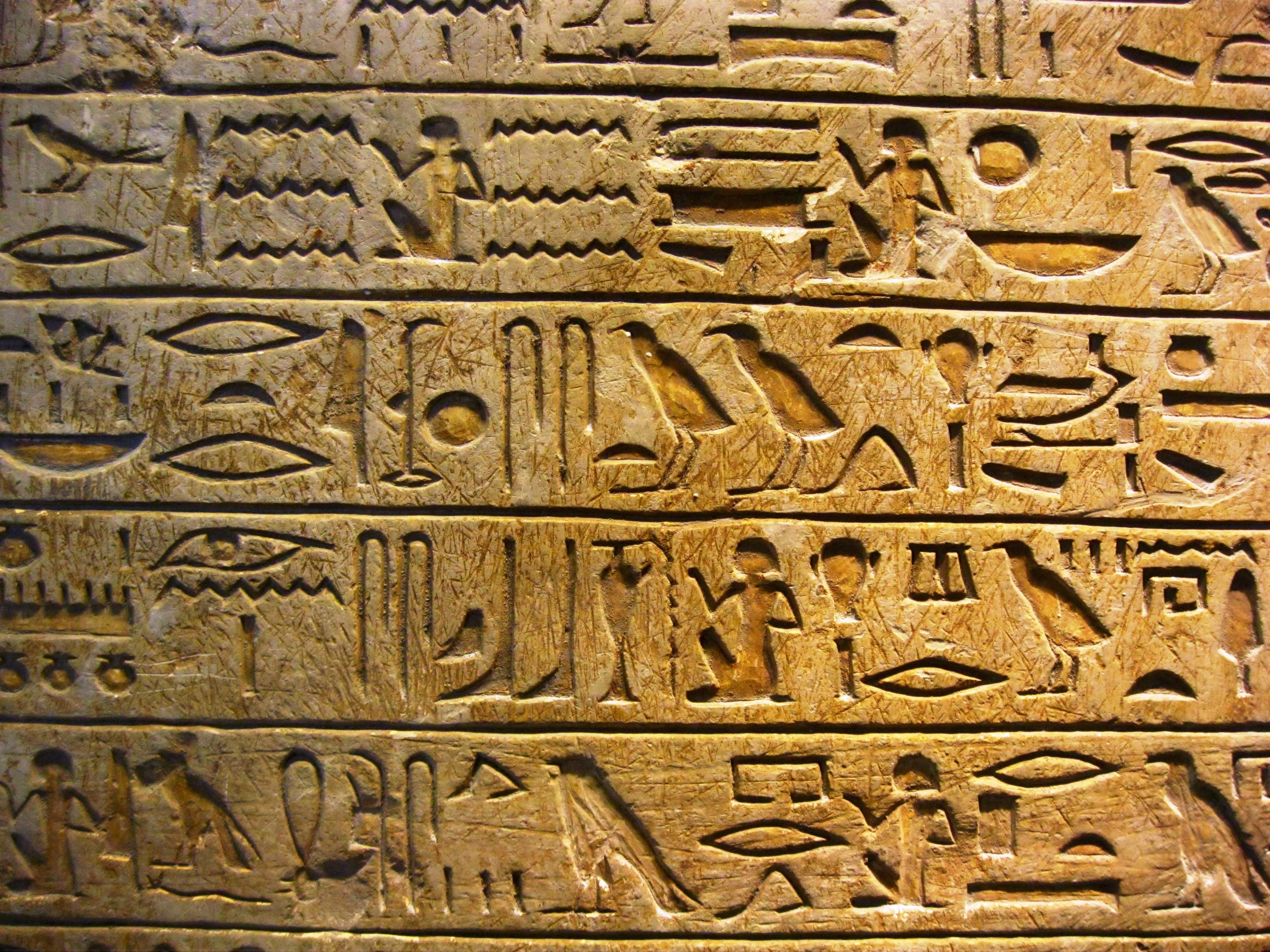 egyptian heiroglyphs (probably spelled it wrong.) i have always been