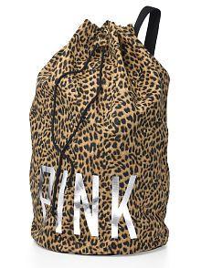 Pink Victorias Secret Leopard Laundry Bag Pink Bag Victoria