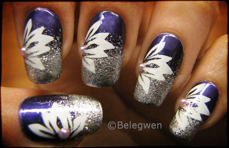 Nail Art by Belegwen: Tummaa violettia