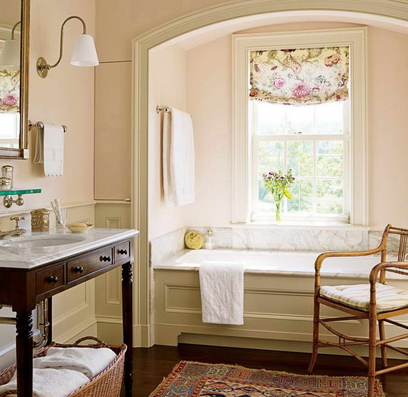 Traditional Bathroom traditional bathroom decorating with rattan chairs | bathrooms