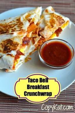 ff1e857fa602 Have you tried the Taco Bell Breakfast Crunchwrap? So tasty. It tastes just  like the restaurant. Make this copycat recipe today.