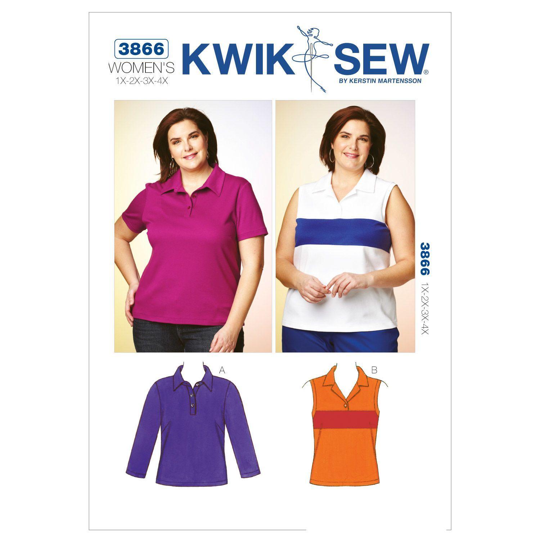 648c7dbb684 Mccall Pattern K3866 1X - 2X - -Kwik Sew Pattern