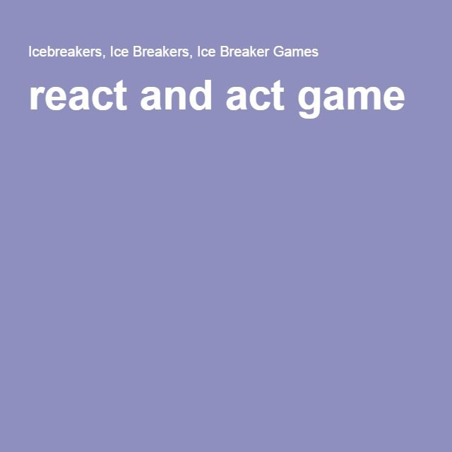 react and act game | party | Games, Acting, Play
