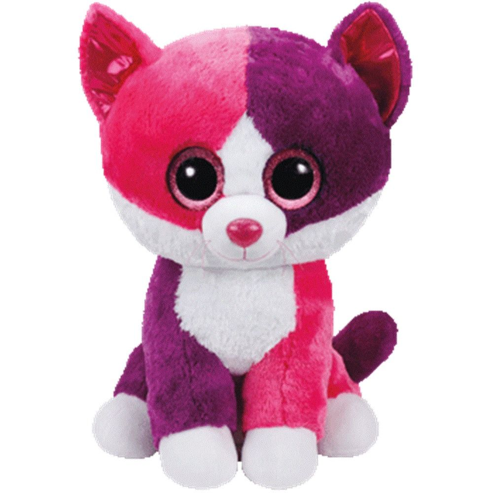 Ty Beanie Boos 6 - PELLIE Pink Purple Cat Claire s Limited Ed Boo Soft Toy  NWMT 3e47dc2088d0