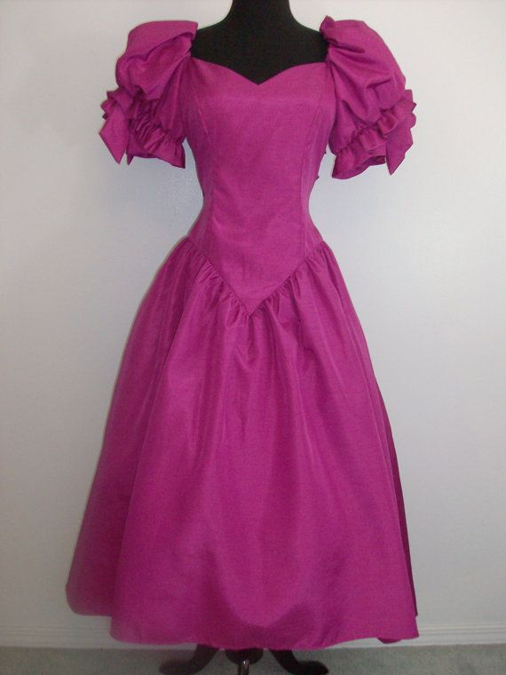 vintage 1980s prom dressy dress party formal bridesmaid