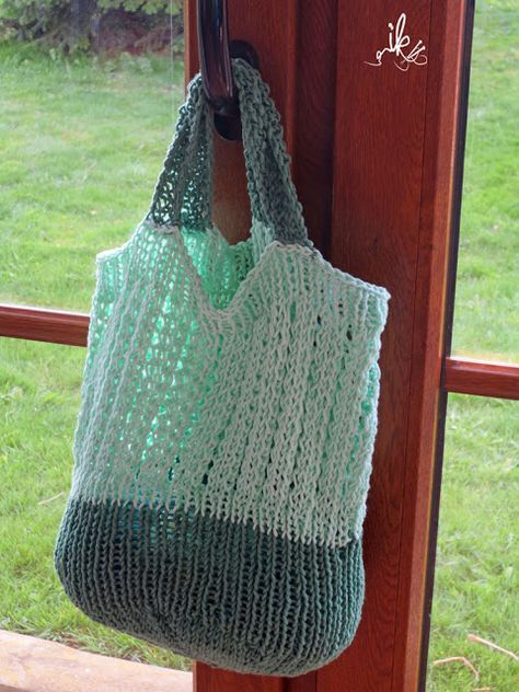 Photo of Free knitting instructions for knitting bags or shopping nets