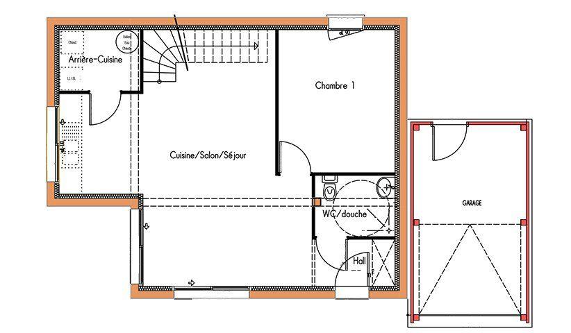Maison Design À Étage 78 M² 3 Chambres | Maison Design, Plans Et