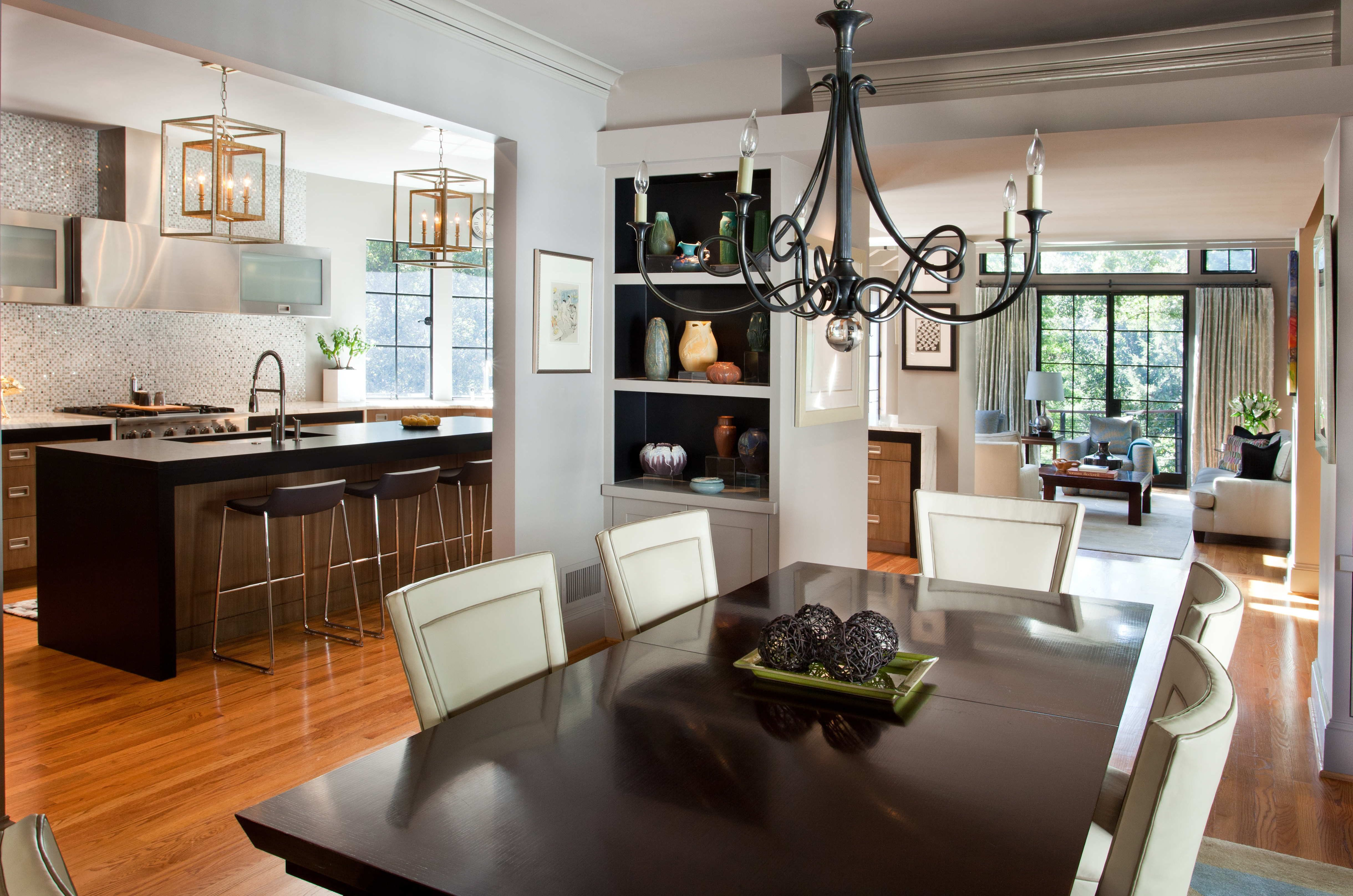 Iving Room Design And Open Floor Plan #livingroomdesign Beauteous Open Concept Living Room Dining Room And Kitchen Decorating Inspiration
