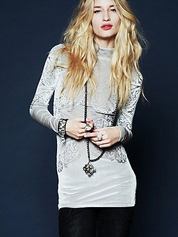 Free People Le Deux Velvet Tunic at Free People Clothing Boutique - StyleSays