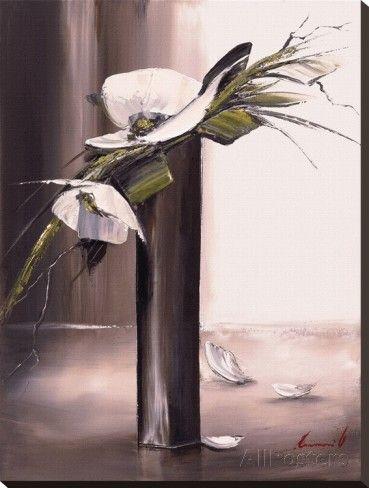 Bouquet Blanc I Reproduction Transferee Sur Toile Par Olivier Tramoni Sur Allposters Fr Fleurs Abstraites Peinture Fleurs Peinture Abstraite