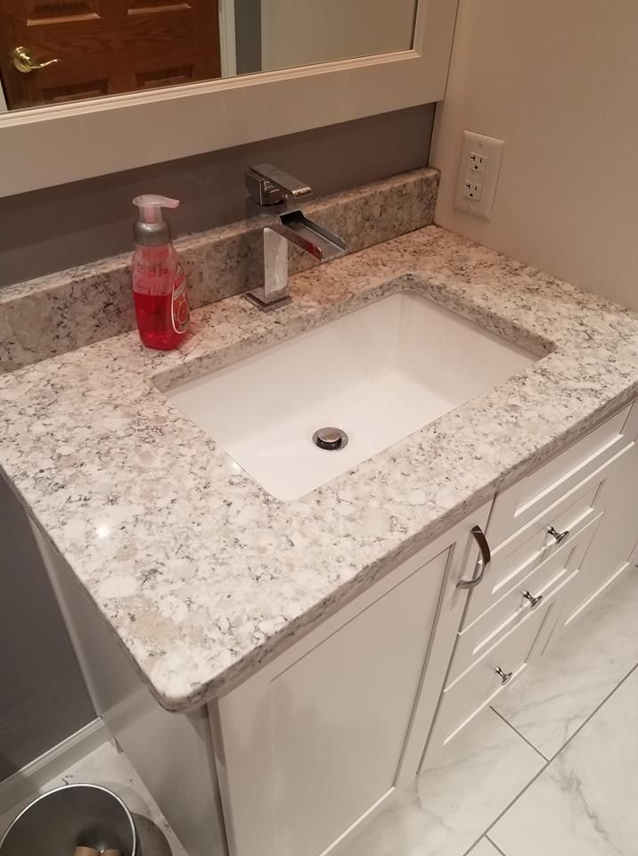 "Maple ""Shaker"" Style Cabinets Painted ""White"" with an LG ... on Maple Cabinets With White Countertops  id=30487"