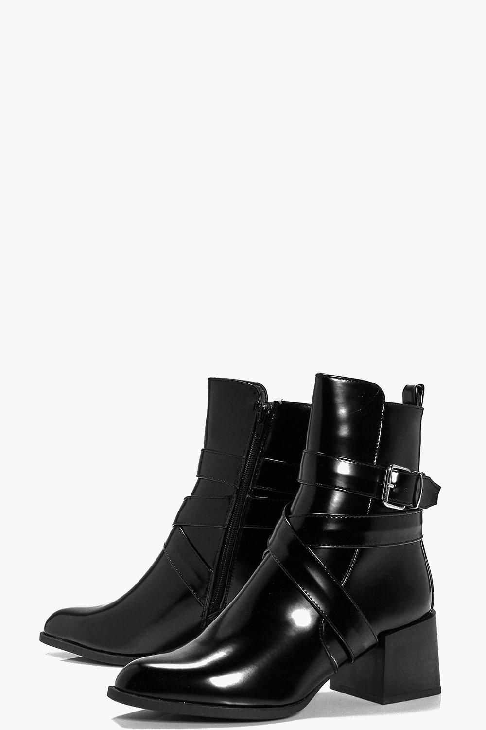 ca777904be Lucy High Ankle Block Heel Boot | My Style | Block heel boots, Block ...