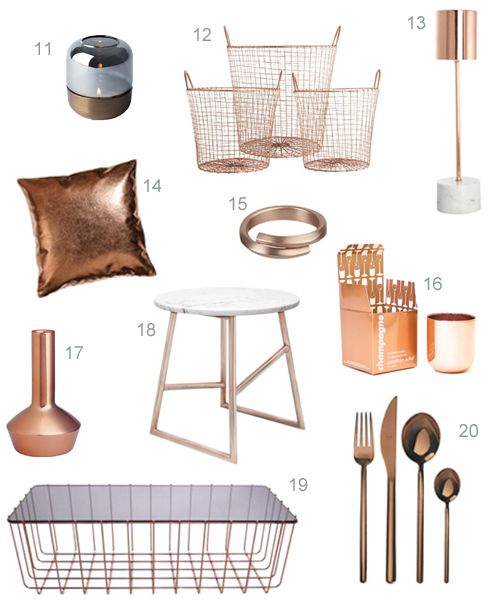 copper-accessories-2 | For the Home | Copper home accessories, Copper desk accessories, Home Accessories