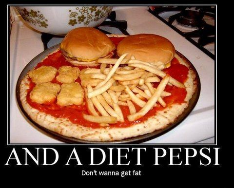 And a diet pepsi