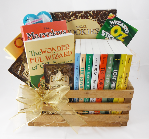 Book gift basket gifts by age ages 12 and up the oz books book gift basket gifts by age ages 12 and up negle Gallery