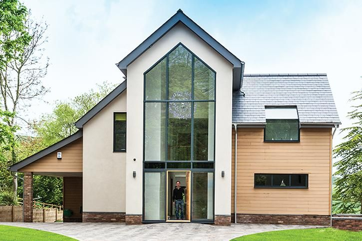 Modern Sips Home With Glazed Gable