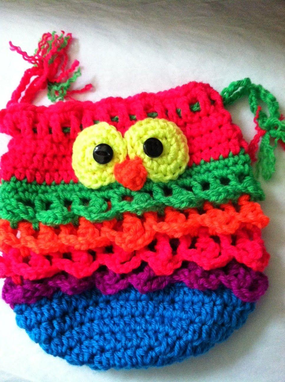 Owl Purse! Pattern by Snappy Tots!!! ~ free pattern | Crochet ...