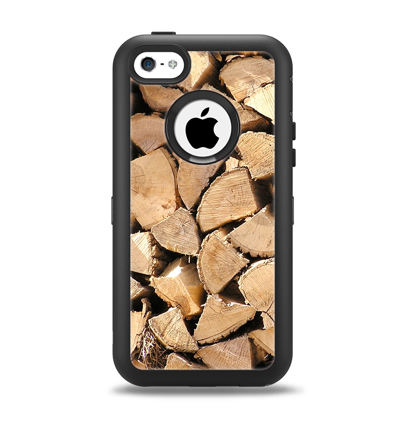 The Chopped Wood Logs Apple iPhone 5c Otterbox Defender Case Skin Set