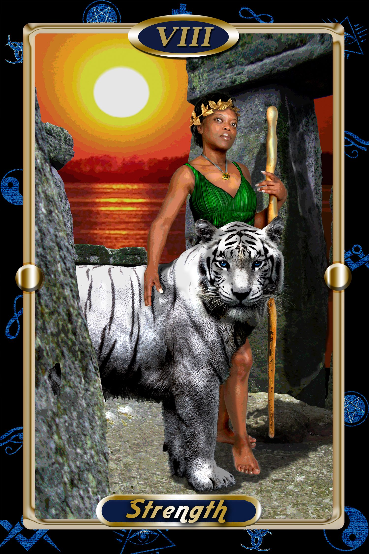 My tarot card of strength professionally done not by me