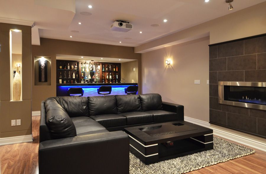 21 stunning modern basement designs modern basement for Home basement design ideas