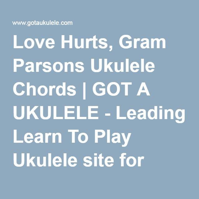 Love Hurts Gram Parsons Ukulele Chords Got A Ukulele Leading