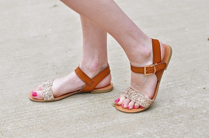 Pineapple Print | Glitter sandals
