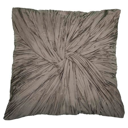 Melissa Silk Pillow in Mushroom  at Joss and Main