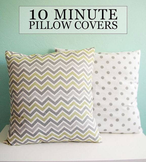 10 Minute Pillow Covers By Aileenbarker, Via Flickr