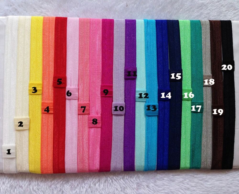 $18.30 (Buy here: http://appdeal.ru/90vp ) 100pcs/lot 20 Colors Wholesale Elastic Headband Baby Flexible Shimmery Shimmer Stretchy Hair Band Headwear Freeshipping for just $18.30