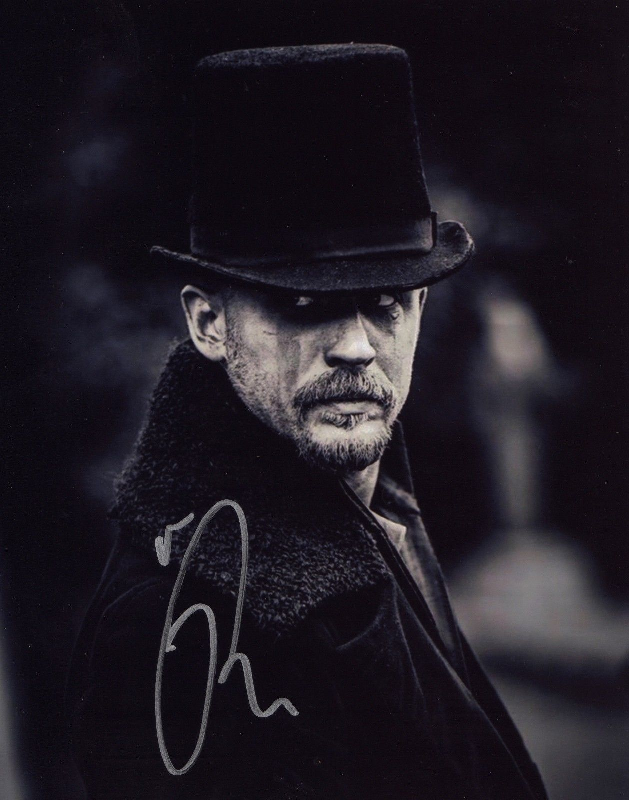 Taboo: Tom Hardy In Person Signed Photo From Taboo.  GREAT SHOT OF TOM HARDY AS JAMES KEZIAH D...