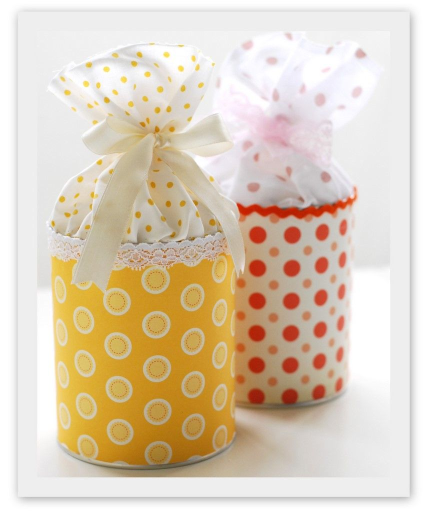 Decorate A Tin Can For Gift Giving - Bjl